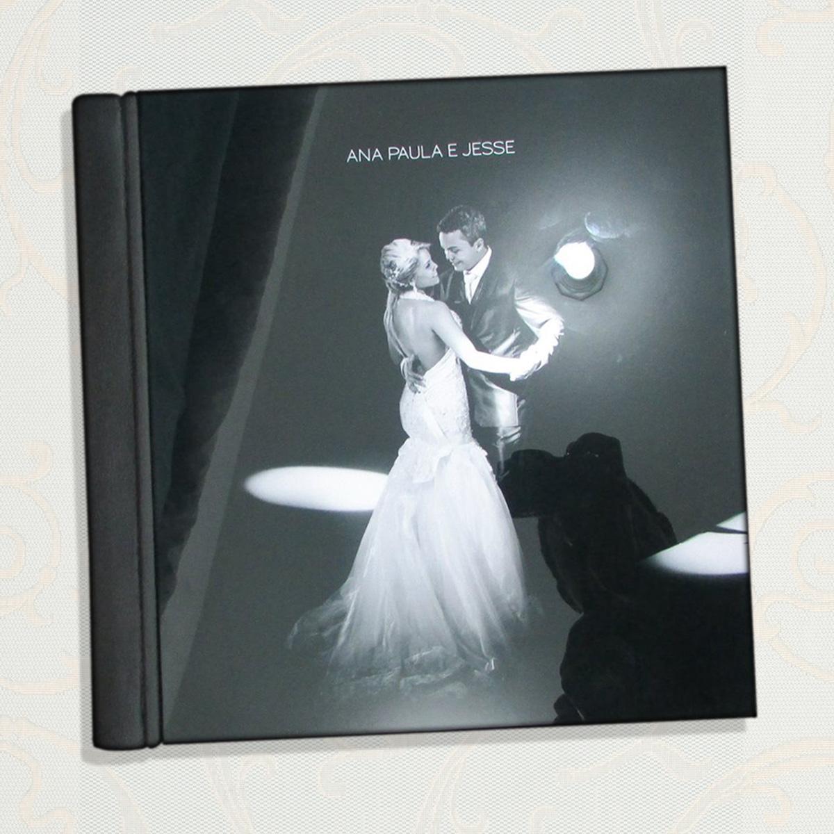 álbum Encadernado Premium Capa Em Acrílico 25x40